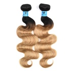 2 Tone 1B/27# Human Hair Weaves Wet and Wavy Brazilian Hair Body Wave Wholesale Brazilian Ombre Hair Extensions