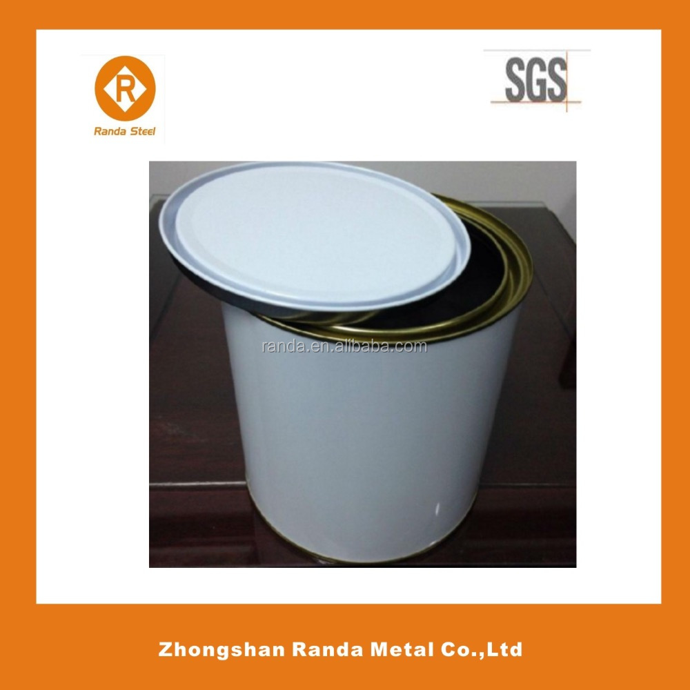 Standard metal round tin can sizes, tin packing cans