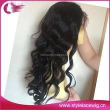 Factory price virgin natural hairline peruvian full lace wig