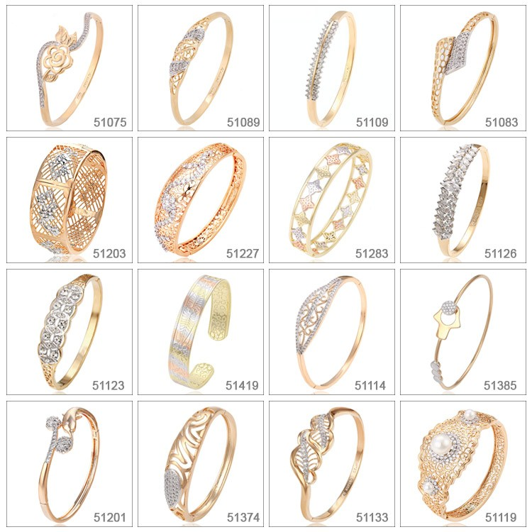 51119 Xuping wholesale imitation sea pearl designs costume style bangles jewelry
