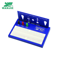 Wanjie Round Hole 840 points Solderless Breadboard with Edge Plate