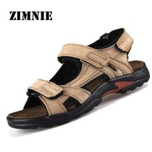 New 2015 Camel Men's Sandals Slippers Genuine Leather Cowhide Sandals Outdoor Summer Casual Men Leather Sandals for Man