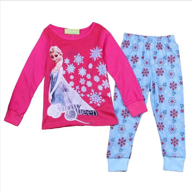 Get Quotations · 2015 New Arrival Shirt+Pant Set Autumn Casual Home Suit  Kids Cartoon Elsa Nightgown Girl 8f91e2c16