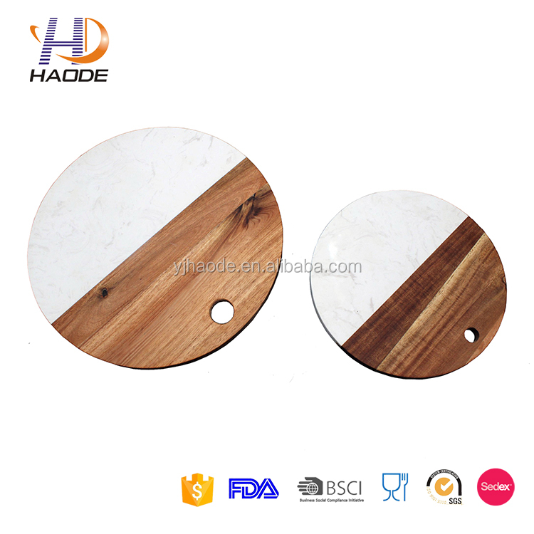 Premium Marble Cutting Board With Acacia Wood