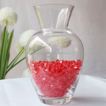 Exquisite Clear Crystal Glass Stone Vase Filler Beads Buy Vase