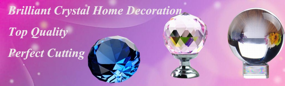 Home Decoration Aqua 8cm Crystal glass Ball Good Luck Fashion Magic ball