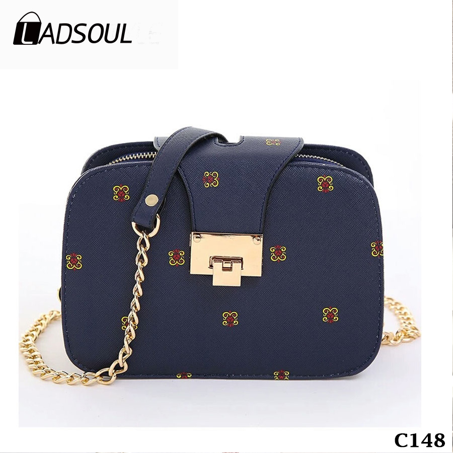 2017 Chain Fashion Small Square Messenger Bag With Mobile Phone Holder