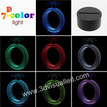 Diamond Ring 3D Illusion Led Lamp table lamp for Valentine Gift
