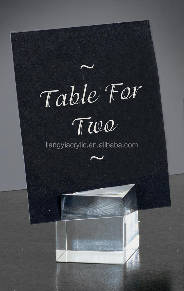 High-end popular acrylic place card holders