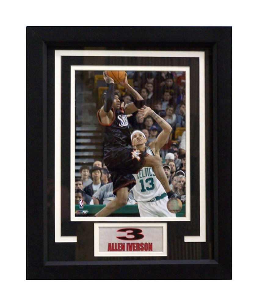 961619cb0aa1 Get Quotations · Encore Select 142-40 NBA Philadelphia 76ers Allen Iverson  Deluxe Frame
