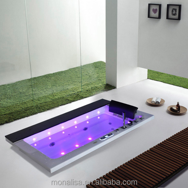 Double Acrylic Walk In Style Bath Tub Colorfull Led Hot Tub With ...