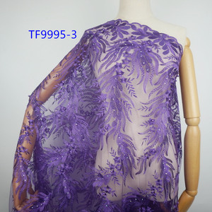 Guangzhou embroidery lace designs french net african lace fabrics