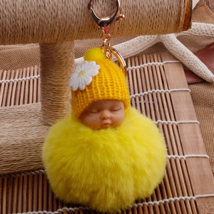 Korea style cute baby face Puffy KeyChain