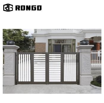 Rongo D\'entrée En Aluminium Villa Jardin Porte - Buy Porte De Jardin Avec  Le Dernier Design,Porte De Jardin D\'entrée En Aluminium,Porte D\'entrée En  ...