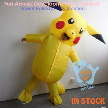hot sales halloween giant pikachu mascot inflatable costume