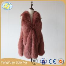 Chinese manufacturers new manufacturing china alibaba Low price fashiobale fox fur coat mink fur vest