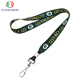 Cheap polyester heated transfer printing dye sublimation lanyard and Custom printed lanyard blank id card lanyard neck strap