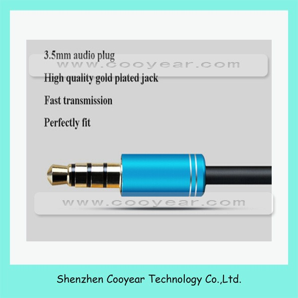 Multicolors 3.5mm Stereo Audio Jack Male to 2 Female Cable Headset Audio Mic Y Splitter Cable Earphone Headphone Adapter