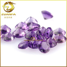 factory direct sell loose natural gemstone diamond cut amethyst make in Wuzhou