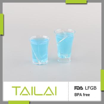 Reasonable price favorable BPA free custom plastic twisted shot glass