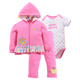 Baby Girl Long Sleeve Clothes Set Cotton Outfit romper pants Sets