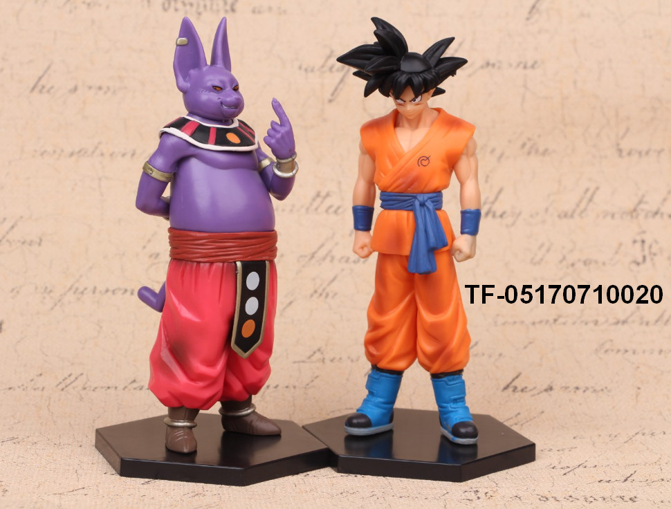 DRAGON BALL 2pcs Son Goku and Champa doll