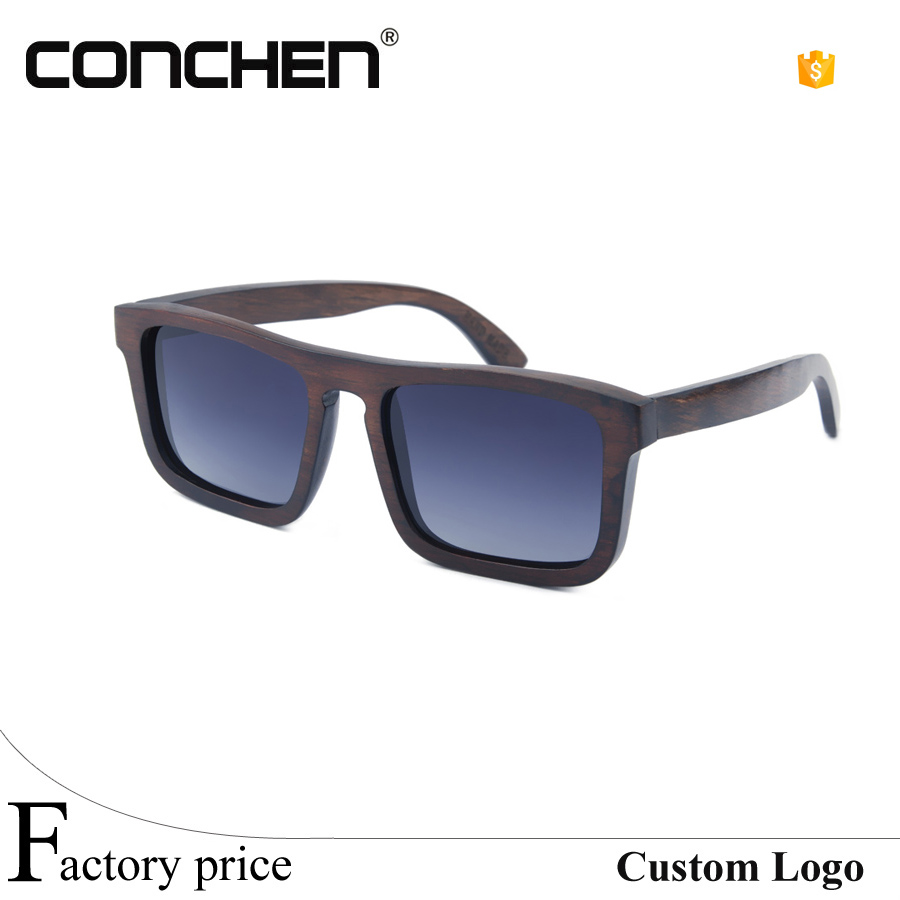 China factory OEM custom logo polarized <strong>bamboo</strong> and wood sunglasses 2016