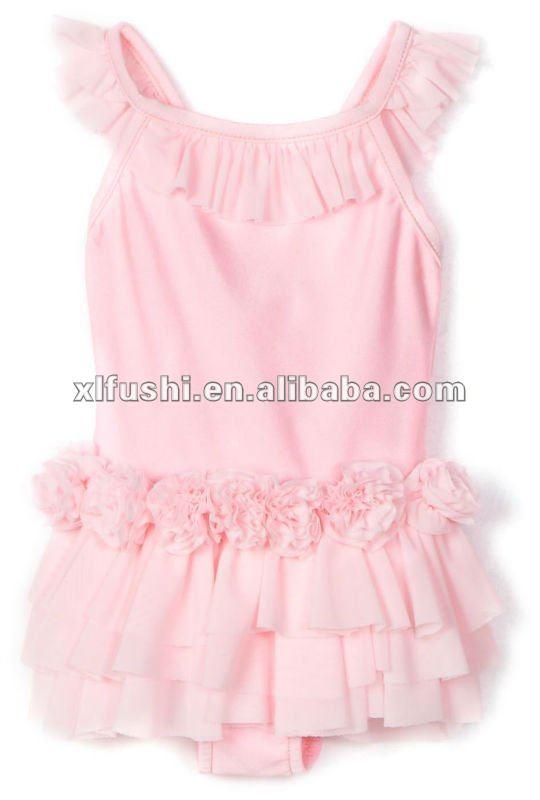 bambino ragazze ballerina neonato bambino costume da bagno un pezzo costumi da bagno