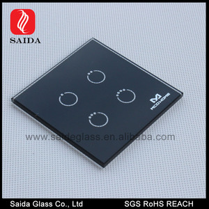 Silk screen printing touch switch glass panel with customized specification