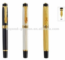 dragon clip luxury metal 18k gold fountain pen