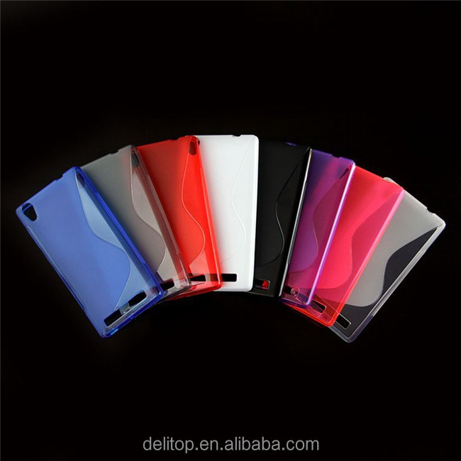 Hot Selling Frosted Candy Color S-line Design Jelly TPU Soft Case Cover For Intex Aqua Power+