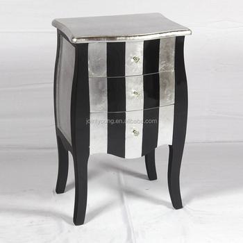 modern shinning silver foil side cabinet for living room buy side