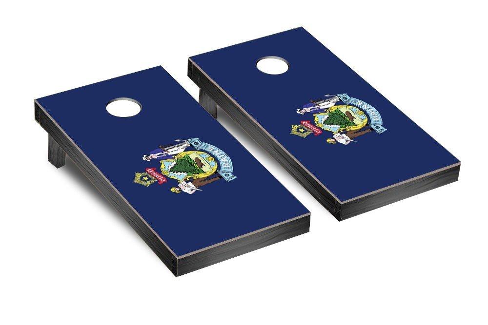 Gameroom DW-T6JM-9W9C Maine Flag Cornhole Bean Bag Toss Game