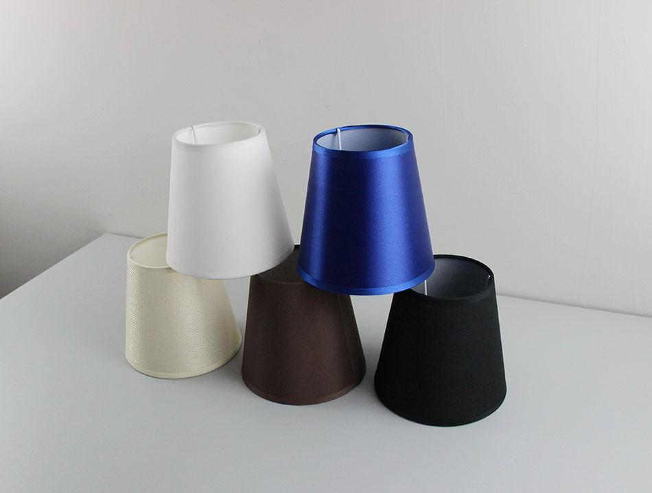 udsModernas E14 lámparas sombrapantallas plástico de 2 de marrónblanconegroazul de PVCAgujero color blanqueado cubiertas de 3cm de zqVSUMp