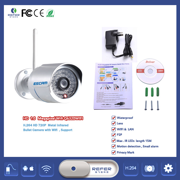chinese wholesale ESCAM Camera IP Camera digital Support Two-way Audio And Dual Stream