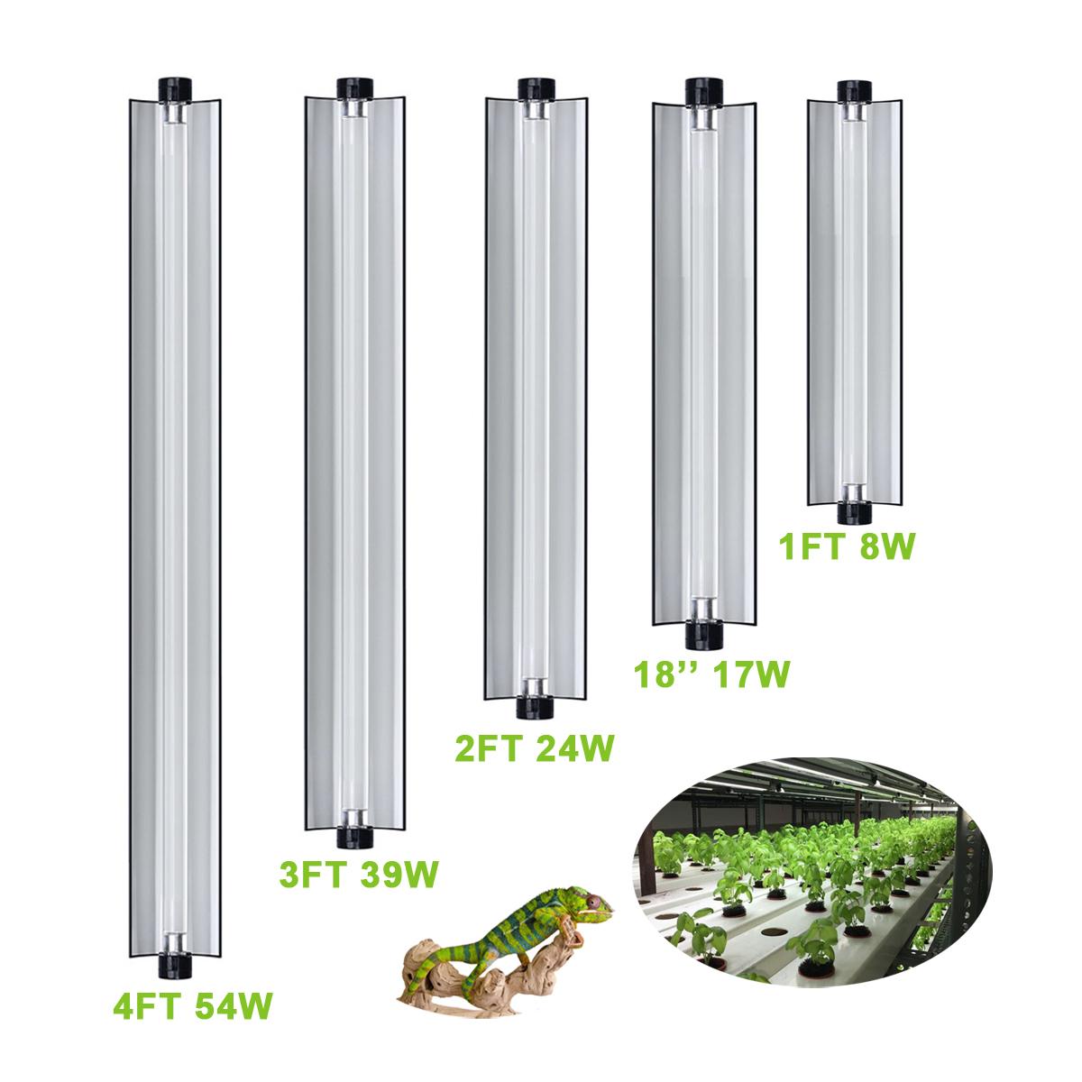 T5 Nanotech Reflector Combo 60cm 24 Inch Fluorescent Bulb 24w 6400k Plants Lighting Fixture Habitat Hanging