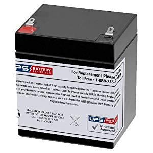 12V 5AH Sealed Lead Acid (SLA) Replacement Battery for RBC45 APC