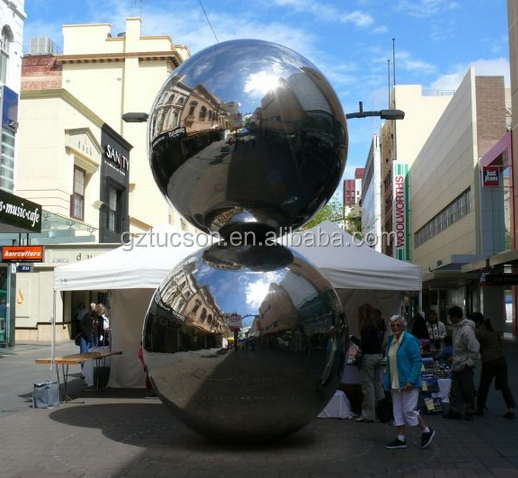 Custom size silver mirror ball for indoor and outdoor decoration