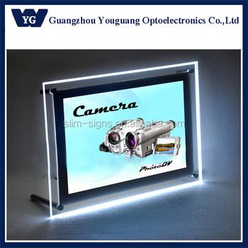 A4 Led Photo Frame,Standoff Light Box,Tabletop Crystal Signage - Buy ...