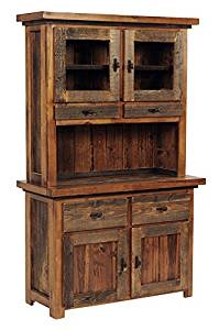 Mountain Woods Furniture The Wyoming Collection Buffet/Hutch, Bronze Pull