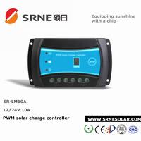 SRNE PWM 10A Solar Charge Controller 12V 24V timer Control Solar Panel Batteries Charger