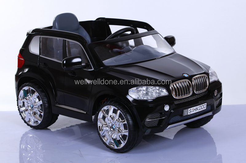 licensed bmw x5 electric car for kids ride on with double door open battery