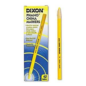 "Dixon - 4 Pack - China Marker Yellow Dozen ""Product Category: Writing & Correction Supplies/Crayons & China Markers"""