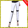 2015 new style fashion sexy color combination black and white tight jeans for ladies,wholesale European USA woman jeans