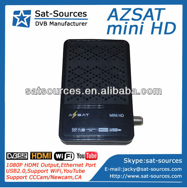 Mini HD Satellite Receiver with Wifi and Youtube supporting CCCam Newcam