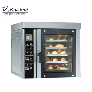 restaurants bakery and pastry equipment adjusted steam function even heating stainless steel 5 trays gas convection oven