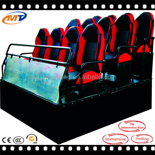 Hydraulic/ servo motor mobile truck 7d cinema and special effects films