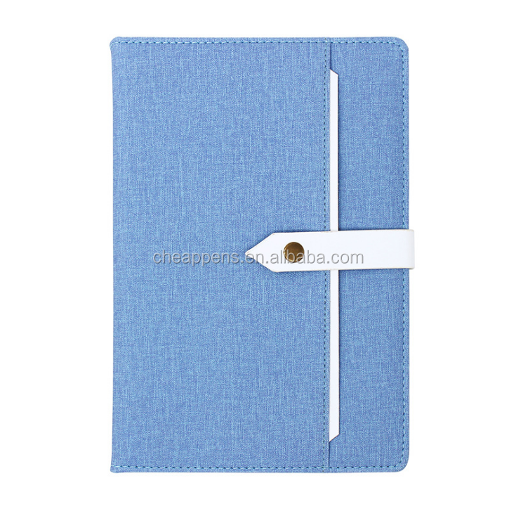 Promotional custom fabric hardcover office supply agenda notebook