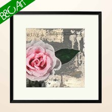 High quality wholesale modern colored rose oil painting on canvas