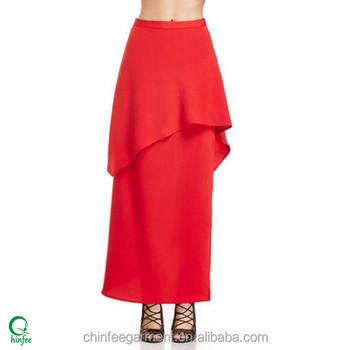 89a823637 SK064 de moda de señora a granel barato nuevos modelos al por mayor faldas  largas